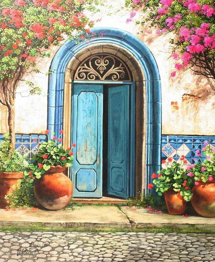 Pintura moderna y fotograf a art stica im genes al leo for Puertas para casas antiguas