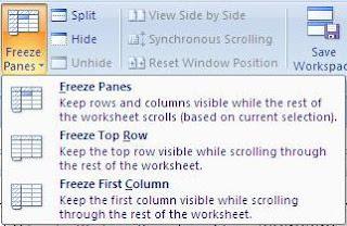 Cara Membuat Menu Statis Pada MS Excel