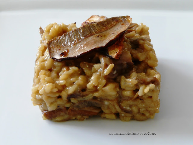 Risotto de Ceps, arròs amb bolets, formatge, arroz, setas, l'essencia de la cuina, blog de cuina de la sonia