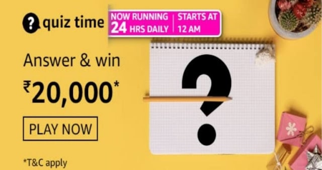 Amazon Daily Quiz Answers Today 4 June 2021 | Win Rs.20000 Amazon Pay Balance