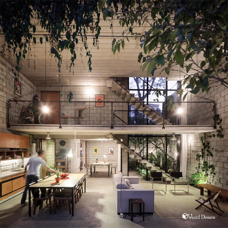 Contoh Desain Pagar Rumah Dari Hebel Unik  Desain