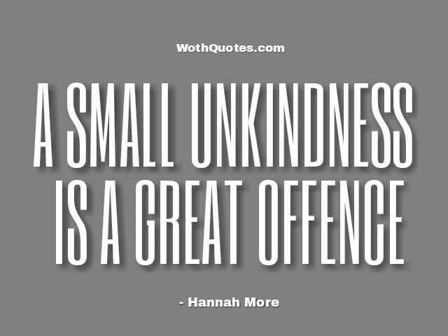 Quotes and Sayings About Unkind