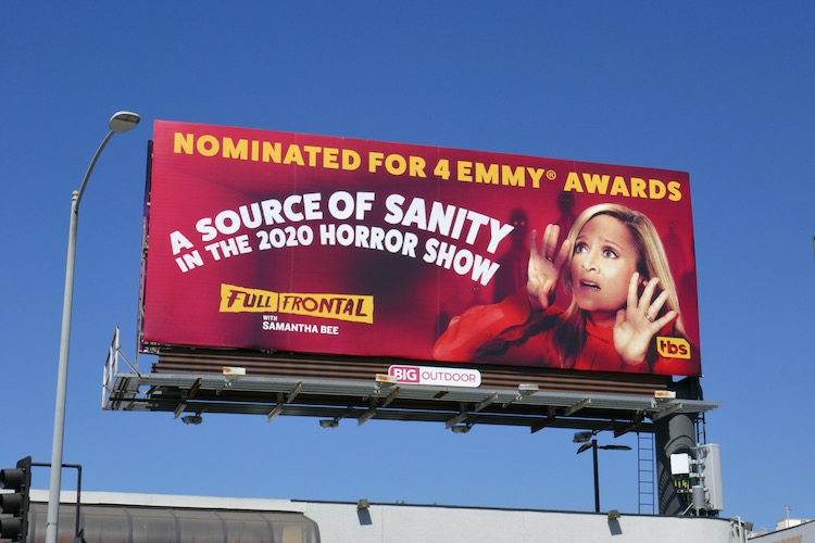 Samantha Bee 2020 Emmy nominee billboard
