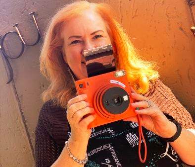 Karen du Toit with Instax Square SQ1
