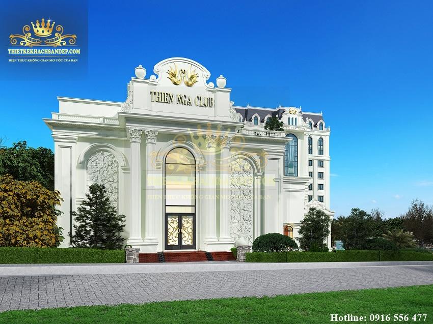 Hình ảnh: Khu vực giải trí của thiết kế khách sạn 4 sao kết hợp nhà hàng tiệc cưới - THIÊN NGA CLUB