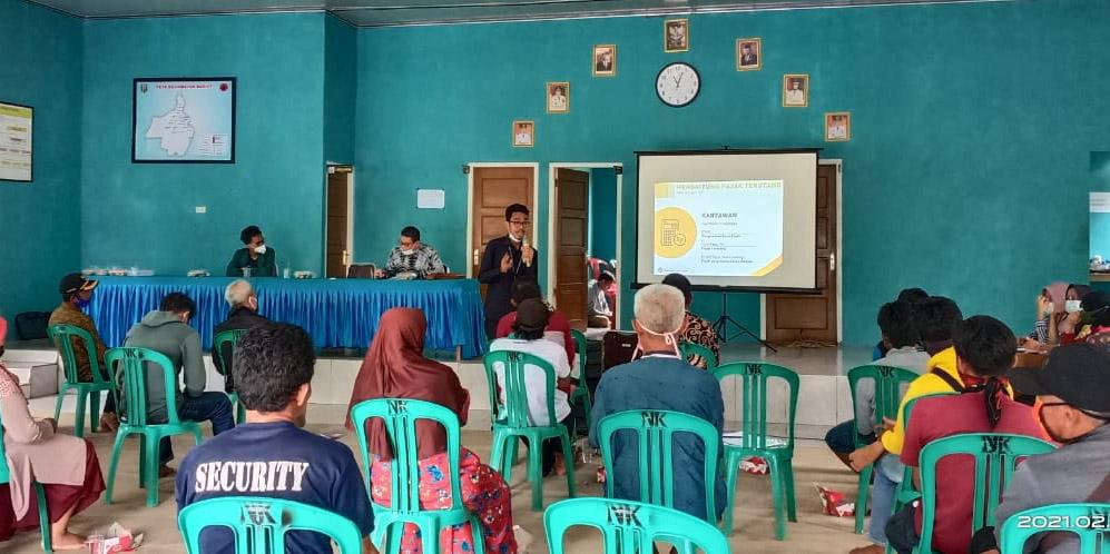 Mahasiswa KKN Unila Gelar  Sosialisasi Perpajakan di Kampung Neki