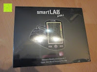 Verpackung: smartLAB profi-I Oberarm Blutdruckmessgerät. Sie erhalten das Baugleiche smartLABprofi+ anstelle. Hinweise bitte lesen