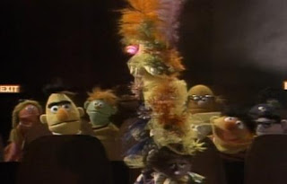 At the Movies Lady In Tall Hat. Ernie and Bert are watching a movie in the movie theater. Sesame Street Best of Friends