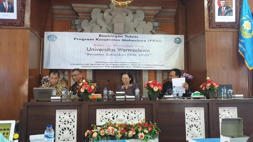 Dosen Prodi Bisnis Kewirausahaan Mengikuti BimTek PKM di Universitas Warmadewa, Bali