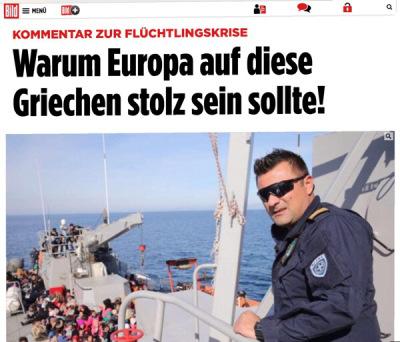 "Bild: ""Η Ευρώπη να είναι περήφανη γι' αυτούς τους Έλληνες"""