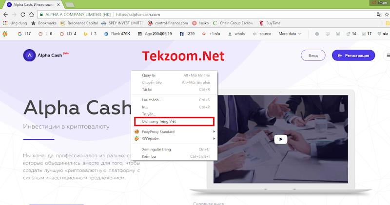 [SCAM] Review Alpha Cash - Dự án tương tự Ethtrade - Đầu tư vào công ty tài chính Hong Kong