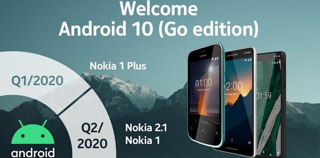 Nokia Umumkan Lini Produknya Yang Mendapat Update Android 10 Go Edition