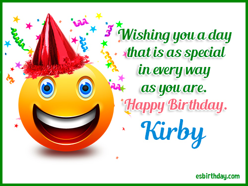 happy birthday kirby happy birthday images for name