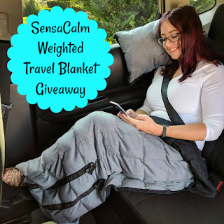 sensacalm weighted travel blanket