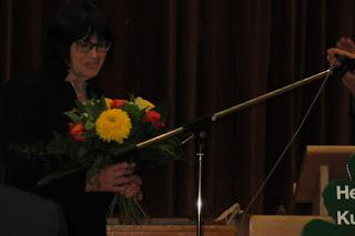 Blumenstrauß für Ingrid Reuther.