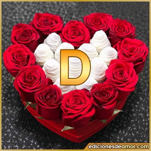 corazón de rosas rojas D