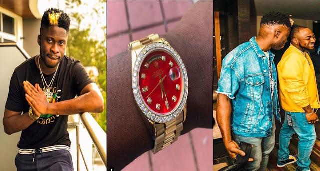 DJ Ecool buy's himself a ₦16 million diamond encrusted watch-Davido Reacts