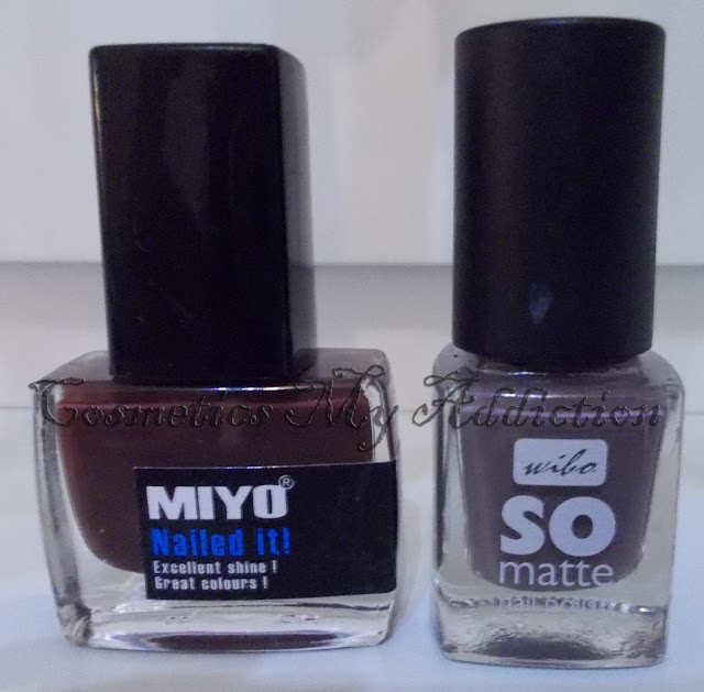 MIYO Nailed it! MOCCA 05; WIBO So matte 05