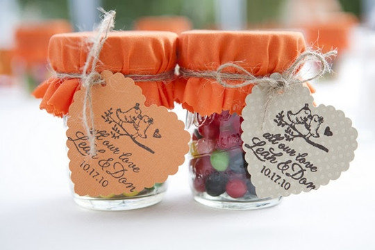 DIY candy wedding favours home made