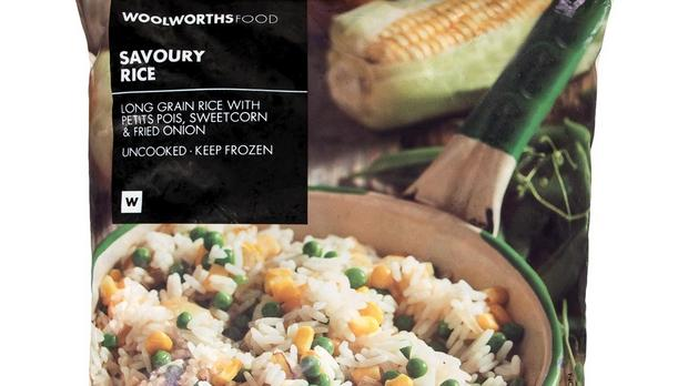 Woolworths recalls frozen rice over Listeria