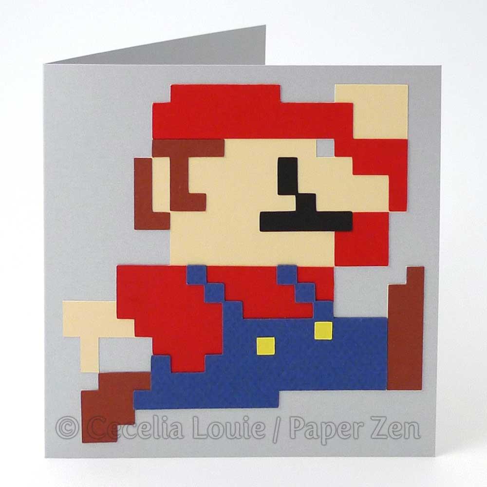 Welcome To Paper Zen Cecelia Louie Mario Birthday Card Free Svg