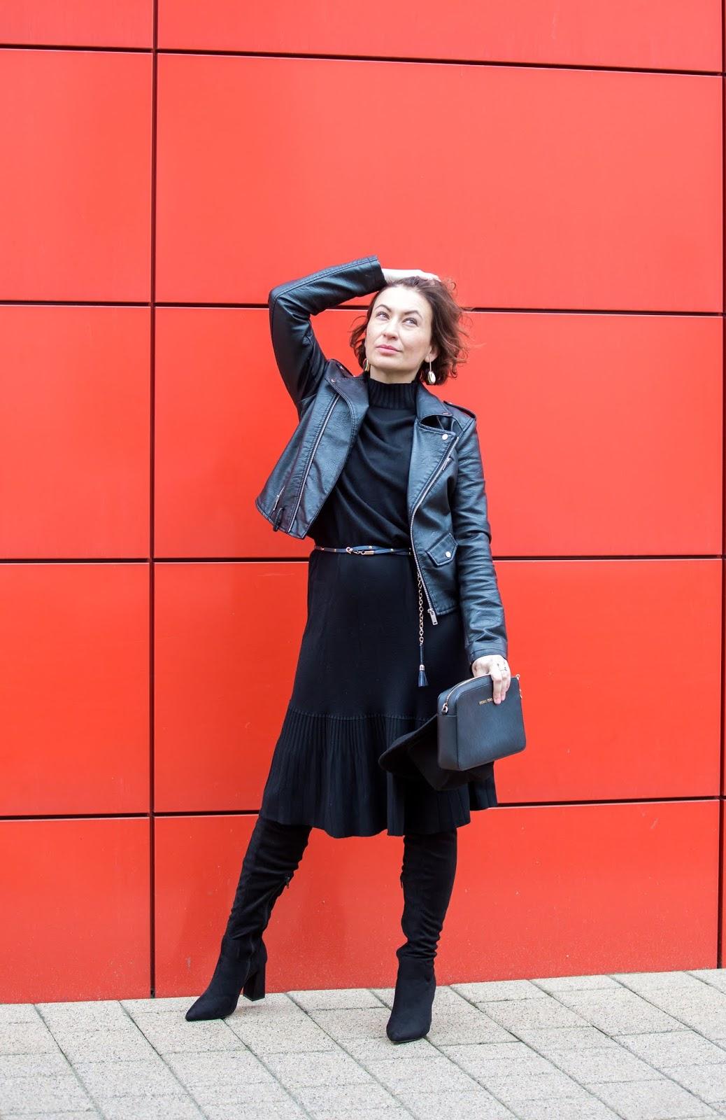 bastet, Bastet Knitted Dress, blog modowy Puławy, Mała Czarna, Shoq.pl, sukienka BASTET, Sukienka Dzianinowa Bastet, www.adriana-style.com, polska marka, sklep shoq.pl, torebka michael kors