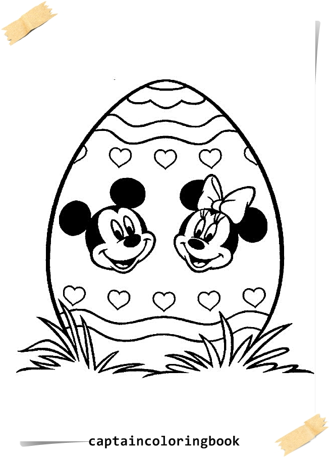 Disney Easter Coloring Pages Coloring Page