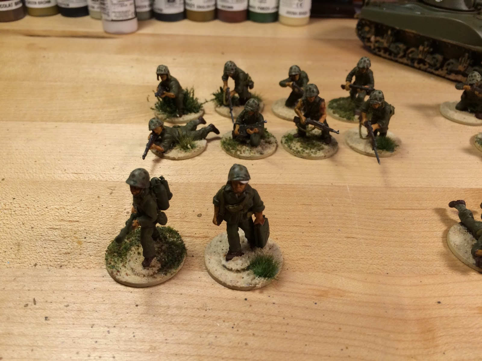 WWII 28mm American marines