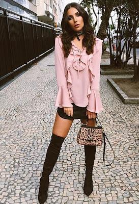 botas negras para falda