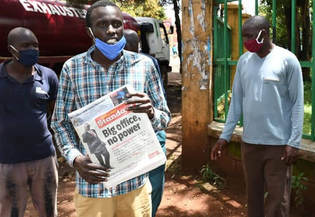 Standard newspaper vendors in Uasin Gishu county