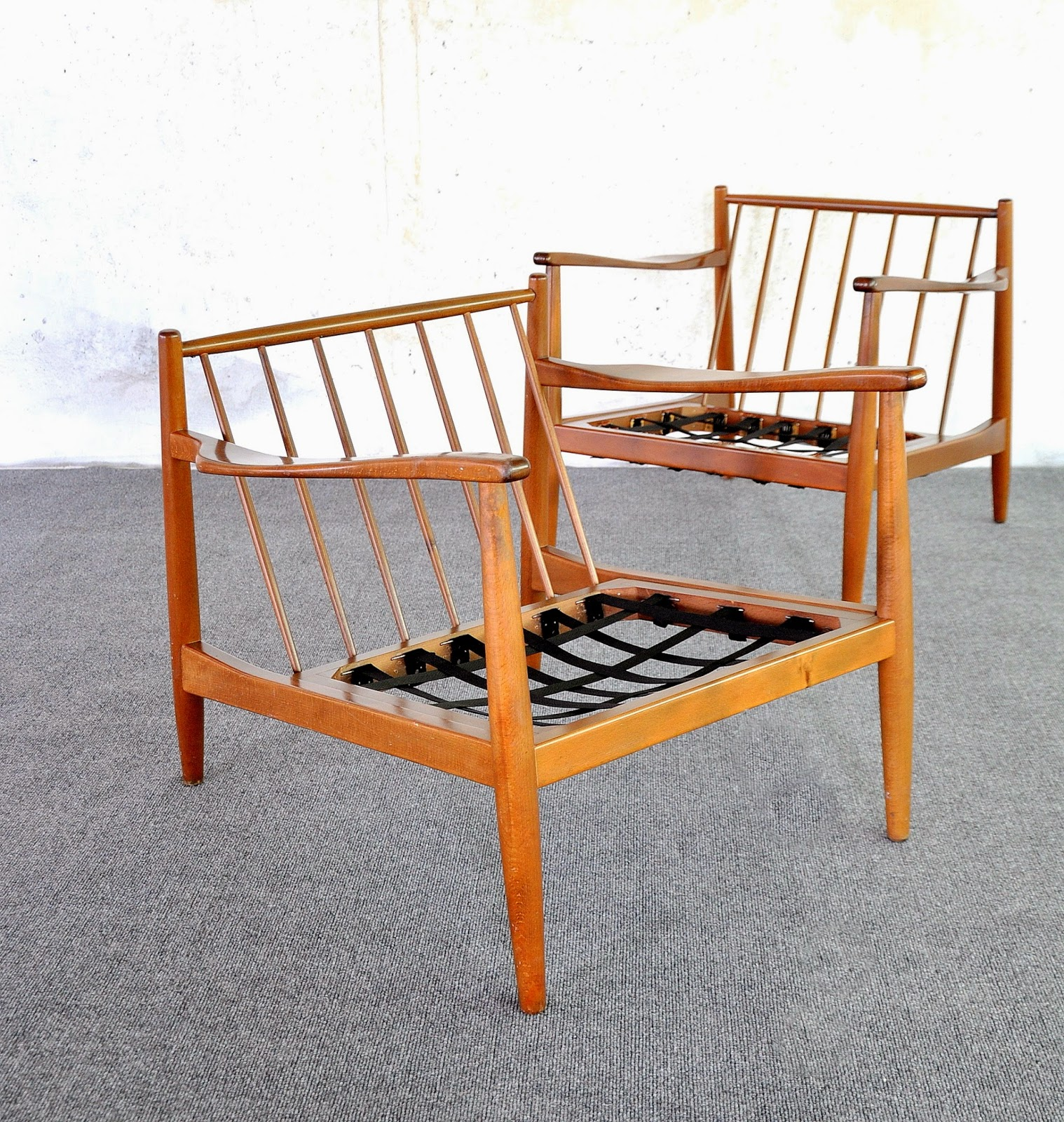 Select Modern Pair Of Folke Ohlsson Lounge Or Easy Chairs