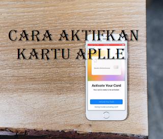 Cara mengaktifkan kartu Apple fisik Anda