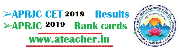 APRJC Results 2019,Rank cards,counselling dates,seat allotment@aprs.cgg.gov.in