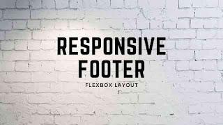 Creative Responsive Footer Design Flexbox