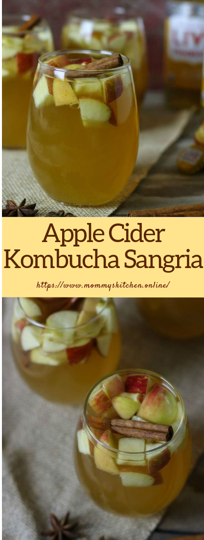 Apple Cider Kombucha Sangria #recipe #cocktail