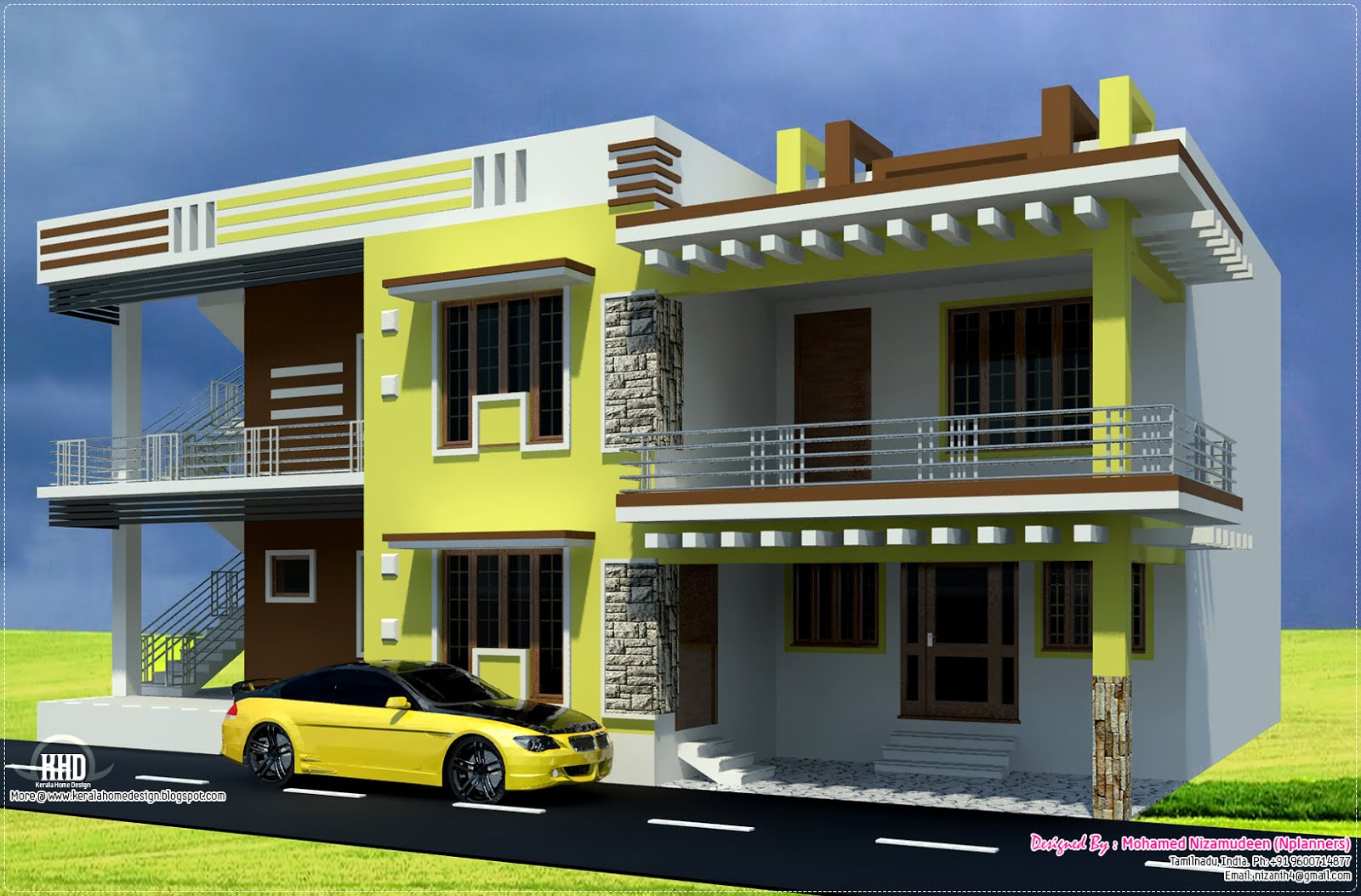 Indian Home Design: New Home Design: South Indian Home Design In 2700 Sq.feet
