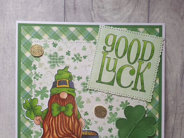 Card Featuring The St.Patrick's Day Tomte Gnome