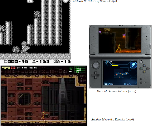 Metroid II Return of Samus Returns Another Metroid 2 Remake screenshots comparisons