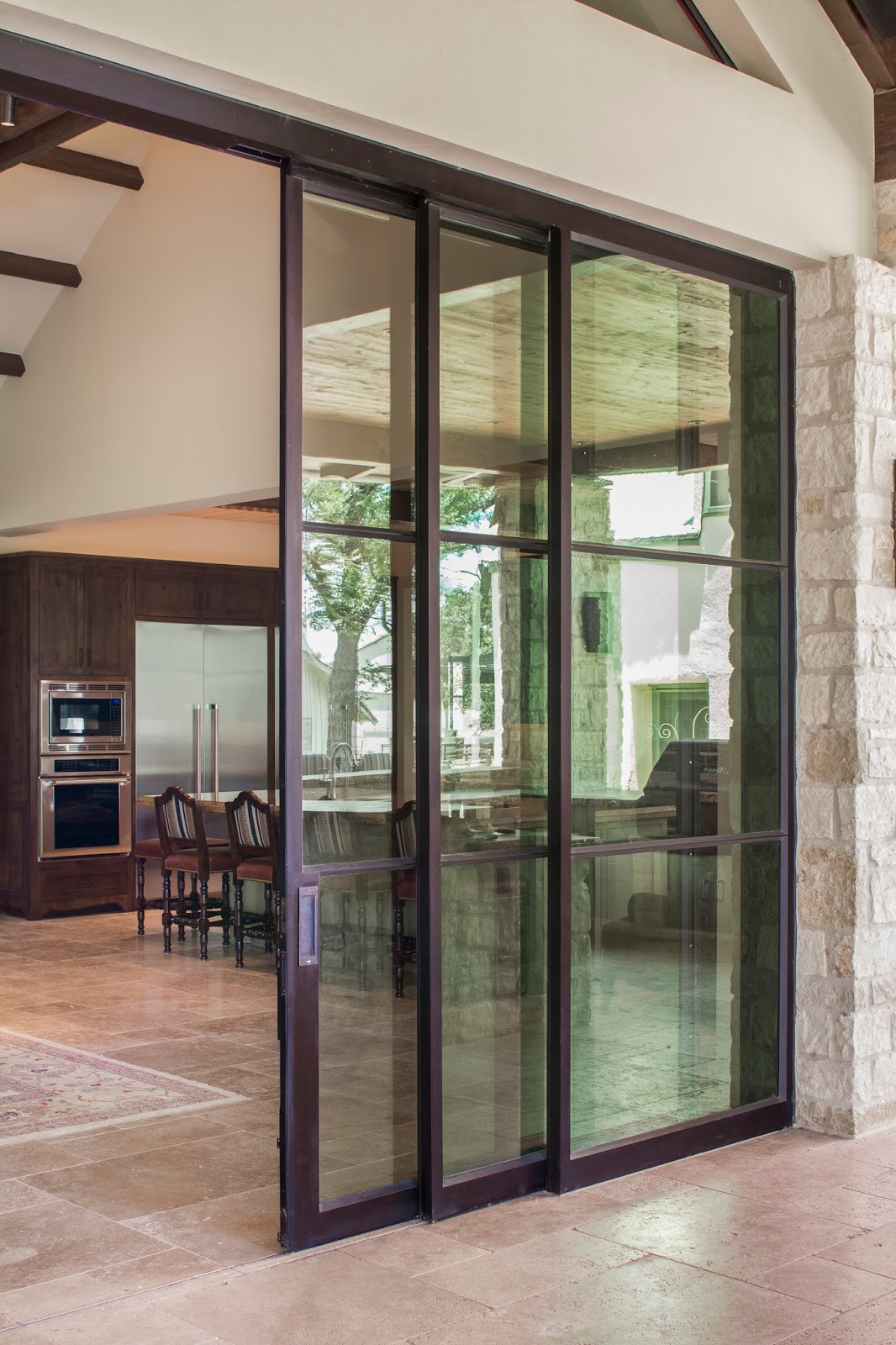 Portella Projects: Steel Sliding Doors - Double Horn Ranch ...