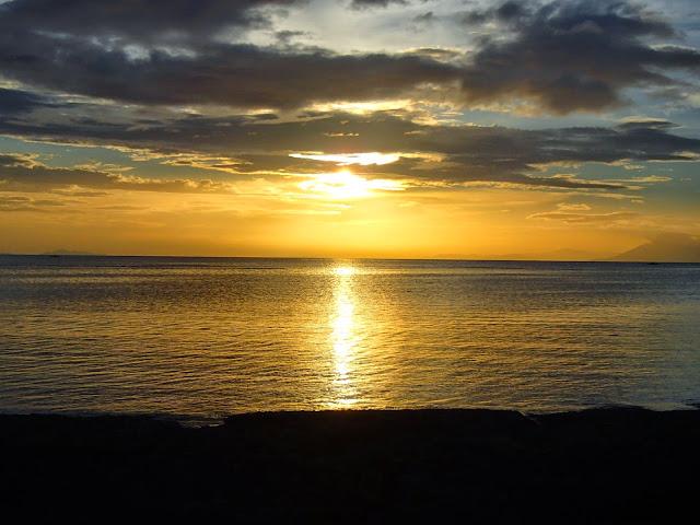 sunset at stilts calatagan
