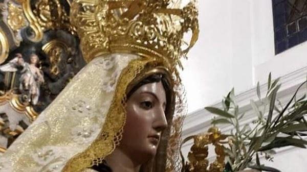 La Virgen de la Oliva es trasladada de madrugada a Vejer para evitar las aglomeraciones