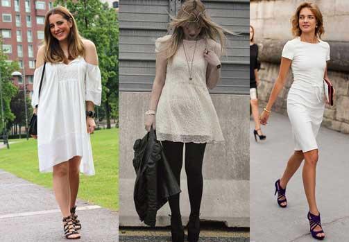 como combinar el vestido blanco