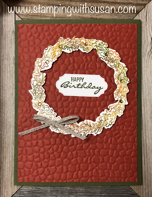 Stampin' Up!, Tidings All Around, www.stampingwithsusan.com, Hammered Metal Embossing Folder,