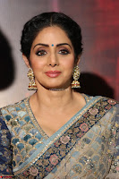 Sri Devi in designer saree stunning beauty at the launch of MOM movie Trailer~  Exclusive 018.JPG