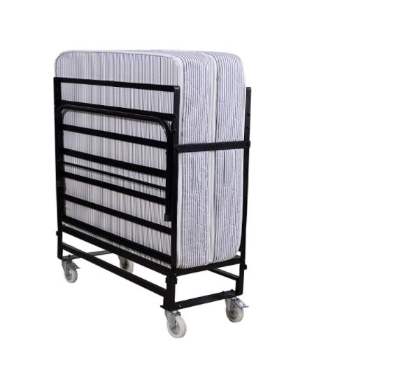 Springtek Rollaway Folding Medium Bed with 6-Inch Contemporary Foam Mattress, Lockable Wheels (Single Size)