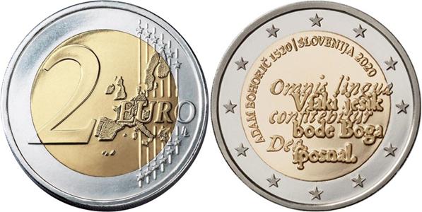 Slovenia 2 euro 2020 - Adam Bohorič