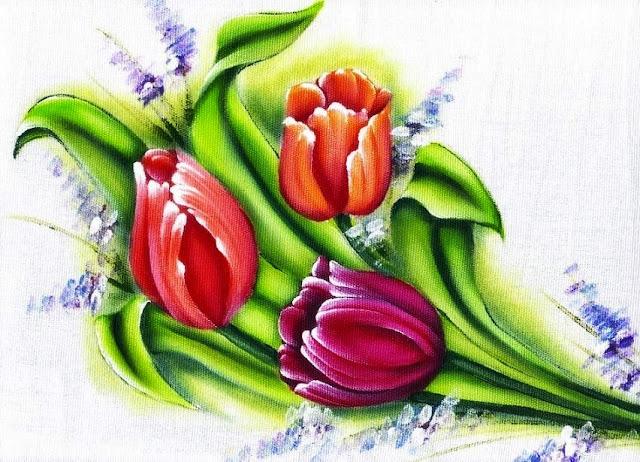 tulipas pintadas