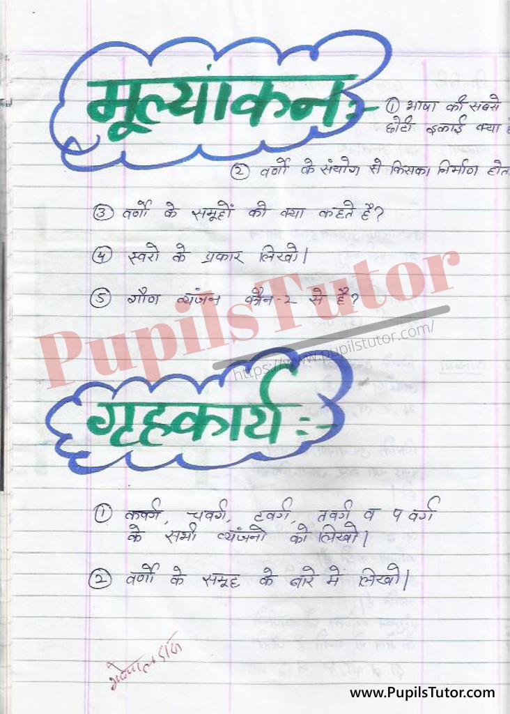 Swar Lesson Plan In Hindi | Vyanjan Lesson Plan in Hindi