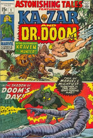 Astonishing Tales #1, Ka-Zar and Dr Doom