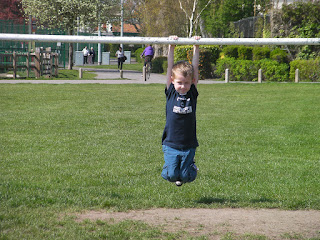 boy on metal goalpost bransbury park portsmouth